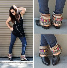 Here's how to create your own DIY belted booties!