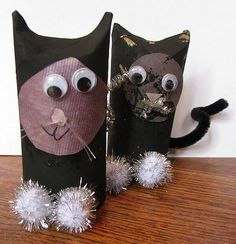 Halloween Cats from Cardboard Tubes ~ Naturally Educational