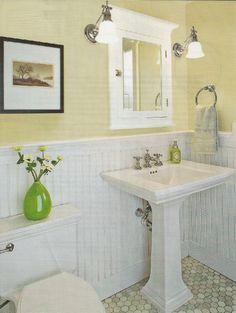 wall colors, half baths, house tours, idea, bathroom colors, bathroom makeovers, floor, tile, small bathrooms