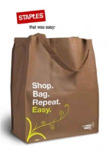 Free Eco Tote Bag +20% off @ Staples  http://www.thefreebiesource.com/?p=184613