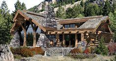 Log Home Plans - PrecisionCraft Log Homes & Timber Frame - Caribou Floor Plan - Log Home Plans.com