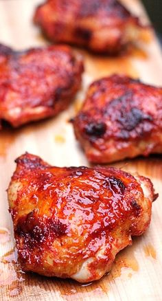 Spiced Honey Brushed Chicken Thighs and the 'Little Dipper'