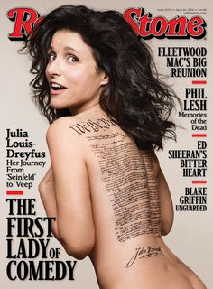 Julia Louis-Dreyfus on the cover of Rolling Stone.