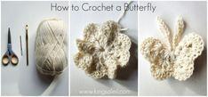 Crochet a Butterfly butterfli crochet, crochet butterfli, butterfli pattern, butterfli tutori
