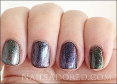 two different kinds of color-shifting top coats per finger - so cool!!