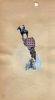 "d's forgotten summer  4.75x8.25"" handmade collage. www.argyleplaids.com  -  mailart  collage  art"