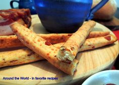 Around the World - in favorite recipes: Bacon and Cheese Breadsticks chees breadstick, favorit recip