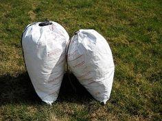 DIY Tyvek stuff sacks from USPS Priority Mail envelopes.