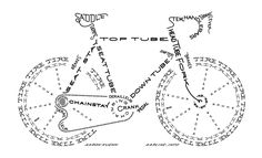 Bike Typogram by Aaron Kuehn @Alyssa Arline
