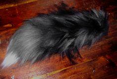 Silver fox yarn tail by ~Ibbins