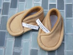 How cute! Fortune cookie baby slippers