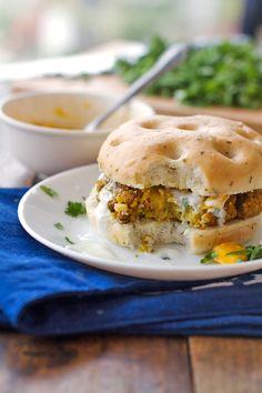 Curry Veggie Burger #MeatlessMonday