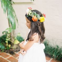Pretty flower crown for the flower girl: http://www.stylemepretty.com/2014/05/23/romance-color-at-villa-woodbine/ | Photography: Kat Braman - http://www.katbramanphotography.com/ galleries, sweet flowergirl, flower crowns, flower girls, floral crowns