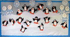 Penguins, Eskimos, and Pattern Block Snowflakes Bulletin Boards- Freebies from Heidi Songs                                                                                                                                                                                                                                          Penguins, Eskimos, and Pattern Block Snowflakes Bulletin Boards- Freebies from Heidi Songs