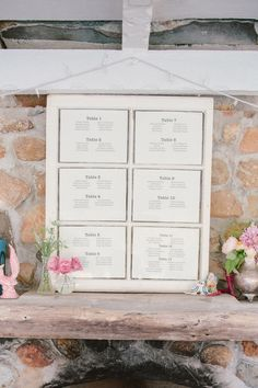 seating chart in a window pane, photo by The Melideos http://ruffledblog.com/leo-carrillo-ranch-wedding #seatingchart #weddingideas