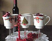 Christmas cup wine glasses