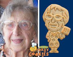 100th Birthday Ideas - Parties - Custom Cookies - Unique Favors - Clever Gifts #100th #Birthday #Parties #Unique #Favors #Custom #Cookies
