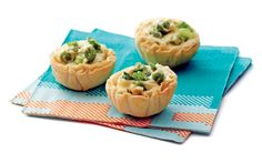 Creamy Pea and Scallion Phyllo Cups