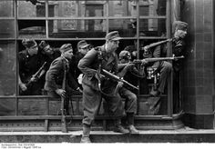 Warsaw Uprising. 1944, 4th August - A unit of the Direlewanger troops - they were nasty and killed without mercy. Nazi brutality knew no bounds.