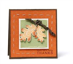 A link to several Thanksgiving card ideas from #CTMH.