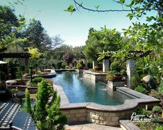 With 3 boys helping we can build this, right!? I would like an above ground pool if it is landscaped like this!