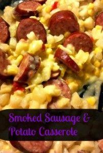 Smoked sausage and potato casserole