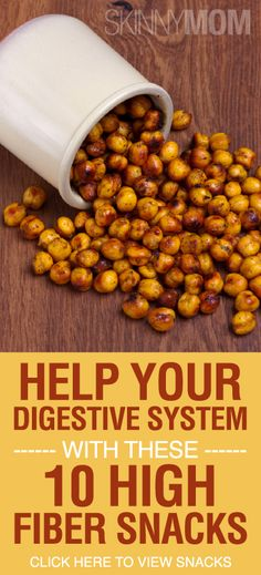 Help Your Digestive System with these 10 High Fiber Snacks!!!!!