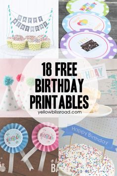 37 Birthday Printables & Cakes and a GIVEAWAY! - Yellow Bliss Road birthday banner printable free, bliss road, printabl cake, 37 birthday, banner cake toppers, free birthday printables, birthday free printables, printable birthday cake banner, birthday printables free