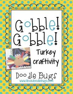 Turkey / Thanksgiving FREE Craftivity Patterns