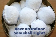 Indoor Snowball Fight - This is a fun tutorial for making an indoor snowball fight. This is fun no matter where you live. Join in with the kids!