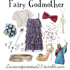 Fairy Godmother, created by loveandpixiedust on Polyvore