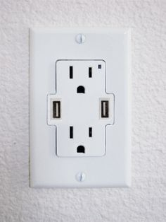 USB wall outlet.