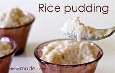 Rice Pudding is gf!