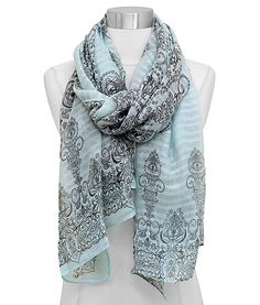 Delphine Scarf in Soft Blue.