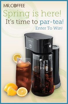 To celebrate spring, we're giving you a chance to 'par-tea' with us and win a Mr. Coffee® Tea Café Iced Tea Maker! Enter our Pinterest contest today -- visit http://on.fb.me/1hJQOd6 to enter. Contest ends 5/2/14. Good luck! #MrCoffee #Coffee #spring #contest #pintowin
