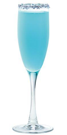 bubbles & blizzard. hpnotiq and champagne