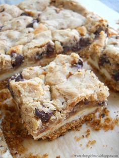 Shopgirl: Chocolate Chip Cookie Dough Cheesecake Bars