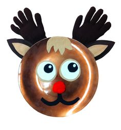 Rudolph Charger Plate #christmas #kids #craft