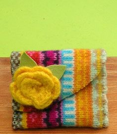 felted sweater clutch