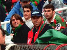 Tom Cruise and Russell Crowe, Rabbitohs v Auckland Warriors, 1999.