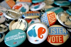 You voted on your favorite button designs and now they are here; the 2012 NPR Election Buttons!  Check in with your local member station to get some for yourself!