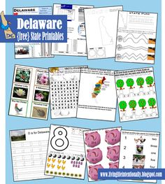 Free Delaware State Printables from Living Life Intentionally