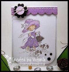 Vixx Handmade Cards: LILI OF THE VALLEY ~ EMMA WALKIES...