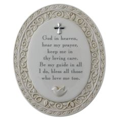 God in Heaven Baby Prayer Plaque. $19.95  #CatholicCompany