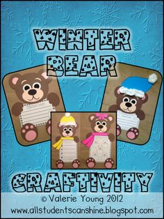 All Students Can Shine: Winter Bear Craftivity