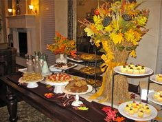 Pretty fall dessert table!