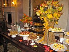 Pretty fall dessert table!