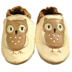 Soft Leather Baby Shoes - Owl