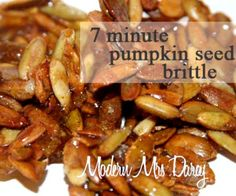 This quick and easy pumpkin seed brittle makes a great fall appetizer, takes just 7 minutes to make