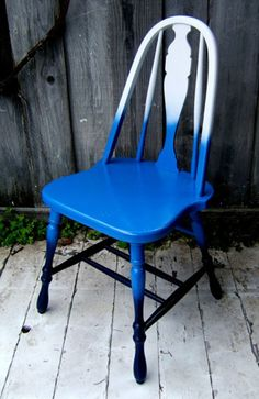 I love chairs painted in bright shiny colors.